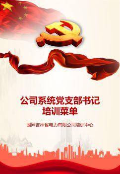 公司系统党支部书记培训菜单电子画册