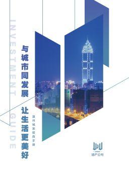 温州城发资产招商手册 电子书制作软件