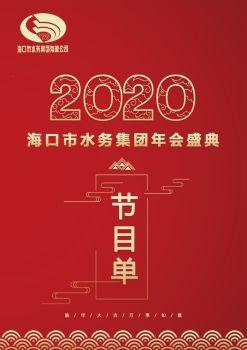 海口市水务集团2020年会盛典节目单电子画册