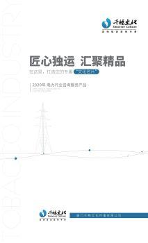 千畅文化2020年电力行业咨询服务产品