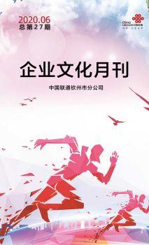钦州联通企业文化月刊(2020年06月刊总第27期)