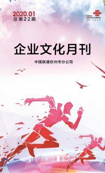 欽州聯通企業文化月刊(2020年01月刊總第22期),電子期刊,在線報刊閱讀發布