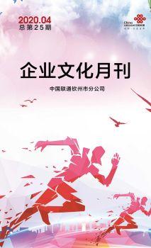 钦州联通企业文化月刊(2020年04月刊总第25期)