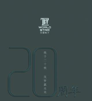 世星电子20周年纪念册