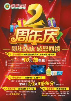 华联百货2周年庆典电子刊物