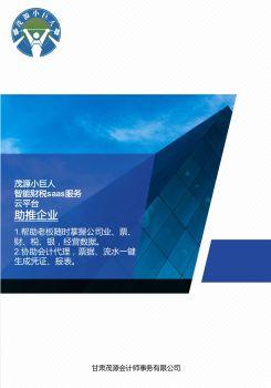 茂源小巨人-产品电子宣传册 电子书制作软件
