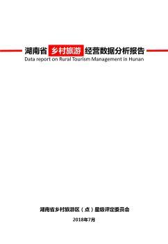 湖南省乡村旅游数据统计报告电子杂志