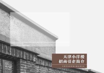 天津小洋楼招商引企简介宣传画册