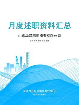 華澤公司5月份述職資料匯總電子畫冊