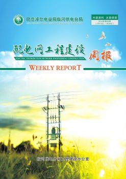 临河供电分局配电网工程建设周报(2018年第29周 7月13日-7月20日)内部资料 注意保密
