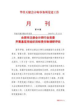 第100期合肥市注册会计师行业党建活动宣传画册