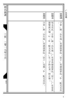 钟氏族谱(欧式)宣传画册