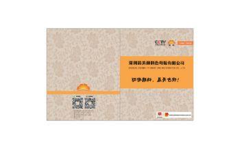 深圳晨美顏料色母粒有限公司宣傳冊