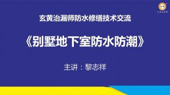 别墅地下室防水防潮讲解——黎志祥(会议版)0105电子刊物
