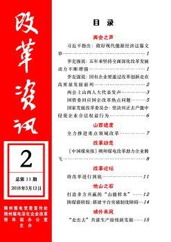 朔州煤电改革资讯2018年第2期