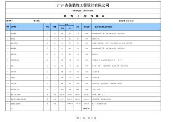 装修工程预算(广州吉佳装饰)电子刊物