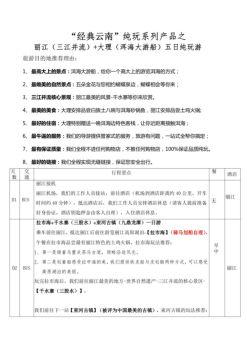 经典丽江—丽江大理纯玩双飞五日游电子画册