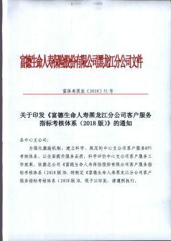 关于印发《富德生命人寿黑龙江分公司客户服务指标考核体系(2018版)》的通知电子画册