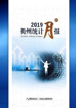 2019年11月衢州统计月报电子画册