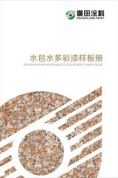广田涂料-水包水多彩漆样板册宣传画册
