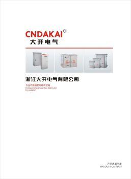 大开电气-不锈钢配电箱宣传画册