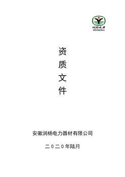 安徽润杨电力器材有限公司电子画册