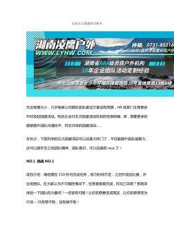 长沙五大企业拓展项目排名电子画册