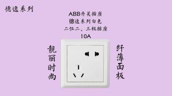ABB开关插座徳逸系列白色二位二、三极插座 10A电子画册