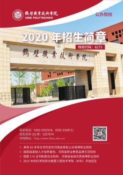 鹤壁职业技术学院2020年招生电子宣传册