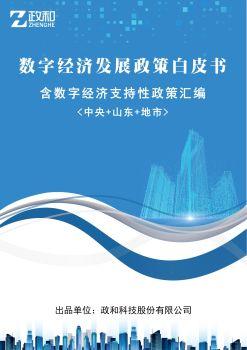中国数字经济发展政策白皮书电子刊物
