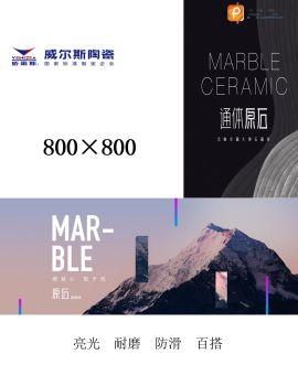 威尔斯陶瓷   800×800通体原石电子宣传册