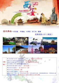 唐风佛韵--西安兵马俑、华清池、乾陵、法门寺、大明宫双卧6天电子画册