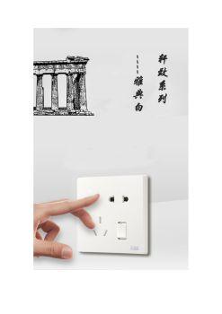 ABB开关插座轩致系列雅典白二位中标五孔插座AF205电子画册