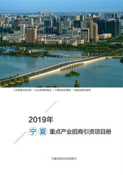 宁夏重点产业招商引资项目册电子书