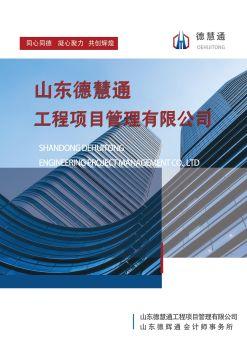 山东德慧通工程项目管理公司宣传册