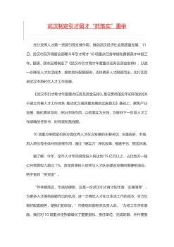 武汉市人才引进政策电子刊物