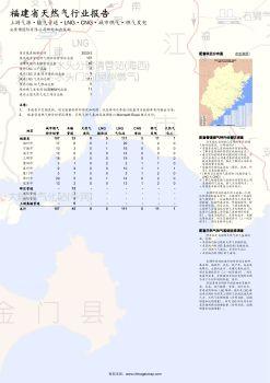 中国福建省天然气行业报告(截止2020年2月)电子画册