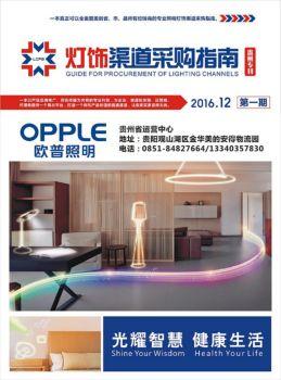 渠道通采购指南-贵州第一期灯饰版电子画册