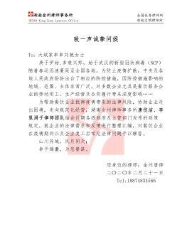致大斌家串串刘艳女士的问候信电子宣传册