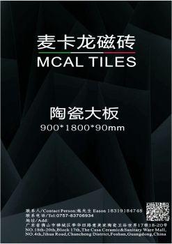 麦卡龙磁砖 mcal tile 900X1800mm宣传画册