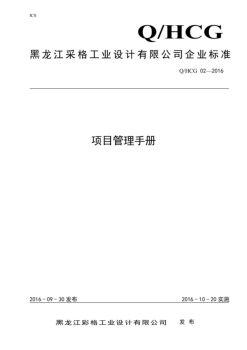 彩格 项目管理手册 2016-9-20