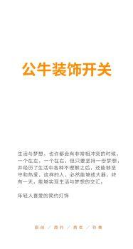 公牛装饰开关(台地灯)电子画册