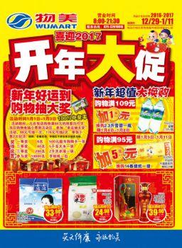 咸阳物美超市2017元旦促销海报宣传画册