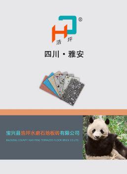 宝兴县浩坪水磨石地板砖有限公司公司介绍及产品说明电子画册