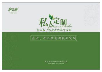 齐云春茶业私人订制画册