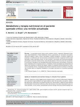 (原文)西班牙语--Metabolismo y terapia nutricional电子画册
