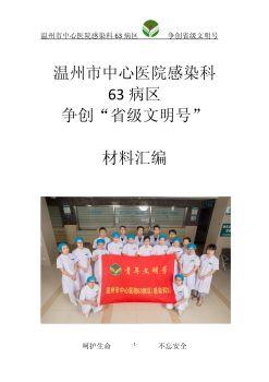 温州市中心医院六院区(温州市第六人民医院)感染科63病区创省级青年文明号电子刊物