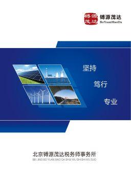 北京镈源茂达税务师事务所电子杂志