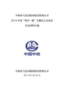 建设管理公司2016年度民主生活会会议材料汇编电子画册