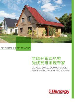 全球分布式小型薄膜发电系统宣传画册